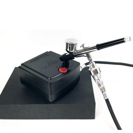 Bộ súng phun sơn Airbrush HD130 kèm máy nén khí K100