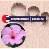 KHUÔN LÀM HOA DÂM BỤT ĐẤT SÉT, HIBISCUS ROSEMALLOW FLOWER CLAY CUTTERS