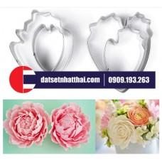 KHUÔN LÀM HOA ĐẤT SÉT MẪU ĐƠN, HỒNG CÁNH XÒE - ROSE PEONY FLOWER CLAY CUTTERS